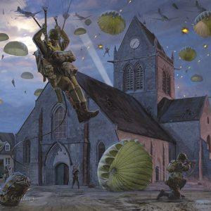 sainte mere eglise by simon smith