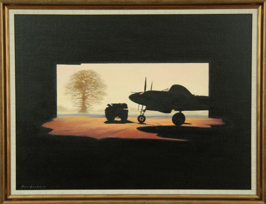 Lightning Sunrise - Original Oil On Board by Ron Leigh