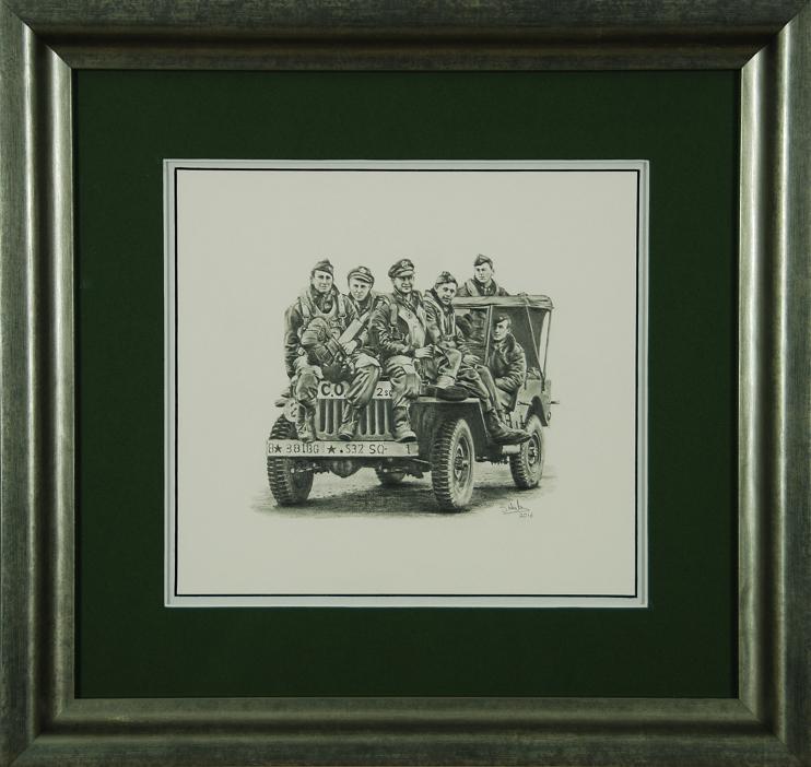 Ubiquitous Jeep - Original Drawing by Steve Hale