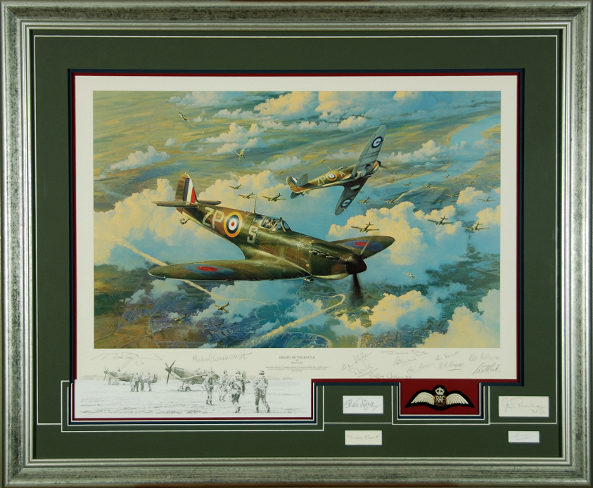 Height Of The Battle - Quad Remarque by Robert Taylor
