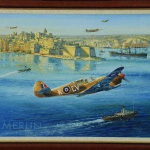p-40 over grand harbour