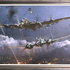 Lancaster Under Attack Giclee
